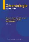 Gérontologie et société - ISSN : 0151-0193, n°157 - septembre 2018