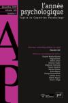 L'année psychologique - ISSN : 1955-2580, Vol. 120 n° 4 - octobre - décembre 2020 - Varia